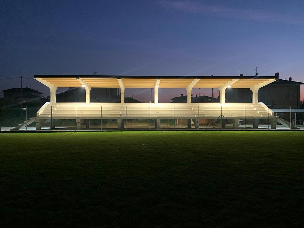 Illuminazione impianto sportivo Sarmato Piacenza progetto Cinque P