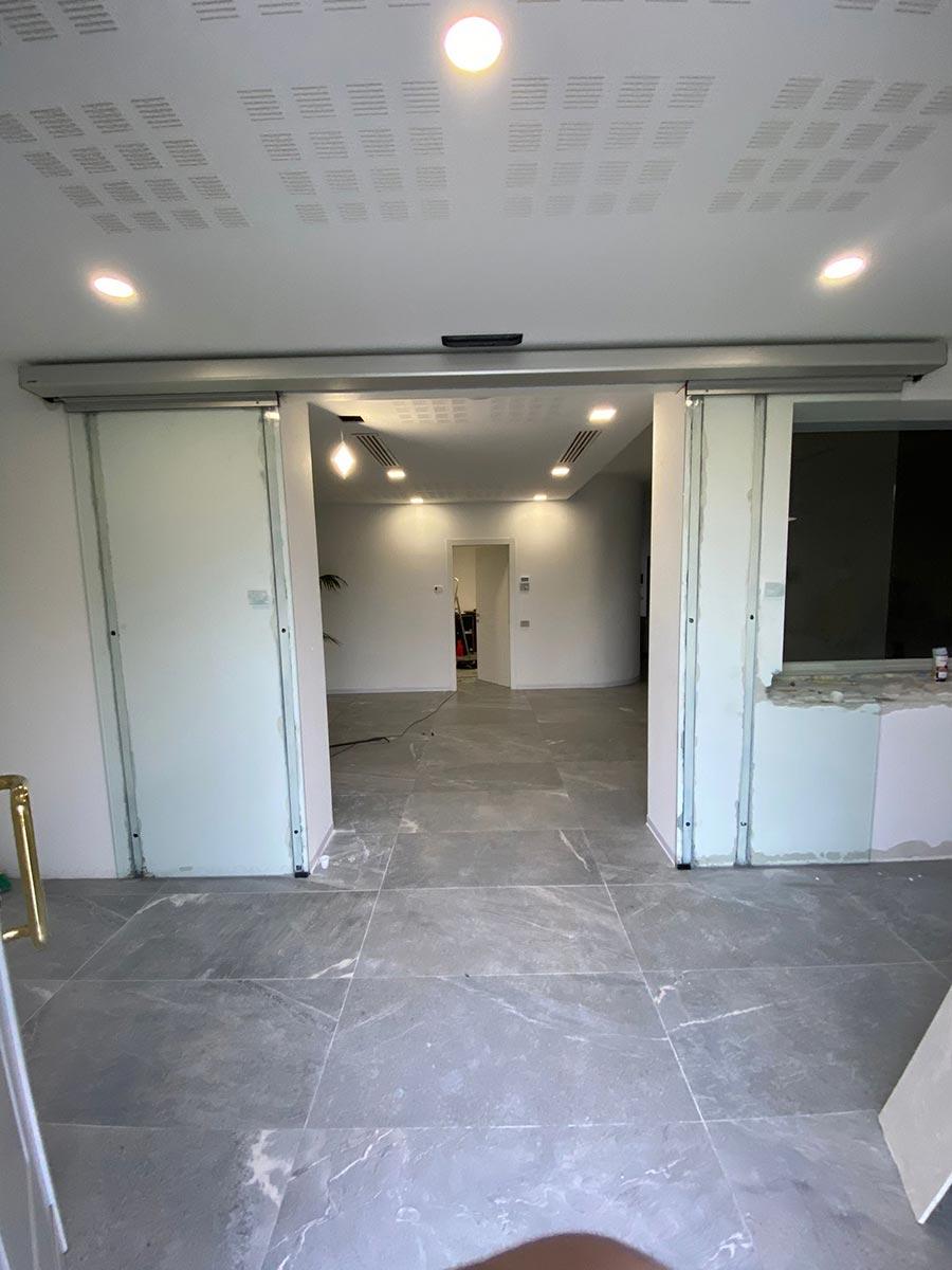 progetto cinque p porte automatiche casa funeraria
